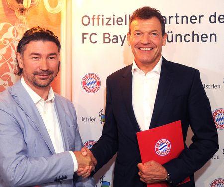 Kooperation: FC Bayern München mit Region Istrien