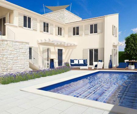 Mietvilla mit Pool und Grill als Ferientrend an der Adria